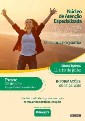 Unimed Cuiabá seleciona médicos psiquiatras