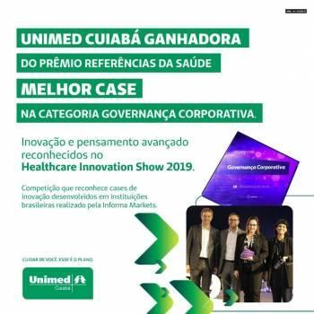 """Unimed Cuiabá recebe prêmio """"Referências da Saúde 2019"""""""