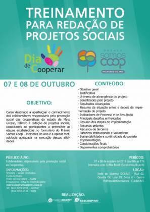 Treinamento para Redação de Projetos Sociais