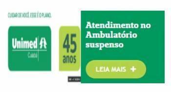 Unimed Cuiabá suspende atendimento no Ambulatório