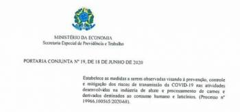 Ministérios publicam portaria para prevenção da COVID-19