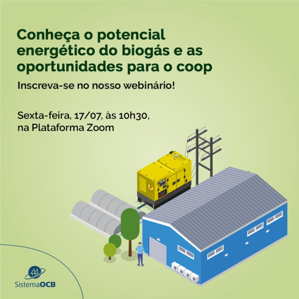Biogás pode fortalecer o cooperativismo no Brasil