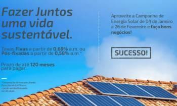 Cooperativa financia até 100% dos projetos de energia solar
