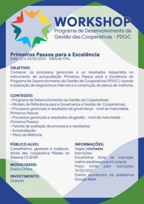Cooperativas se preparam para 9º ciclo do PDGC