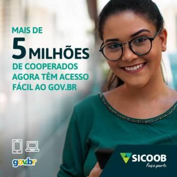Sicoob é a primeira instituição financeira cooperativa integrada ao gov.br
