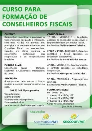 Sescoop/MT promove curso 'Formação de Conselheiros Fiscais'