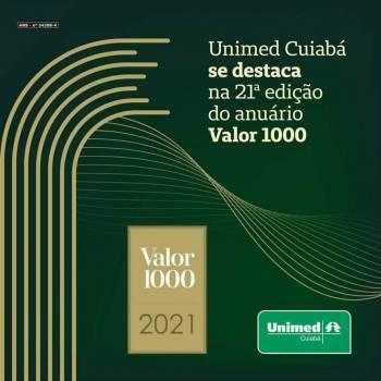 Unimed Cuiabá se destaca na 21ª edição do anuário Valor 1000